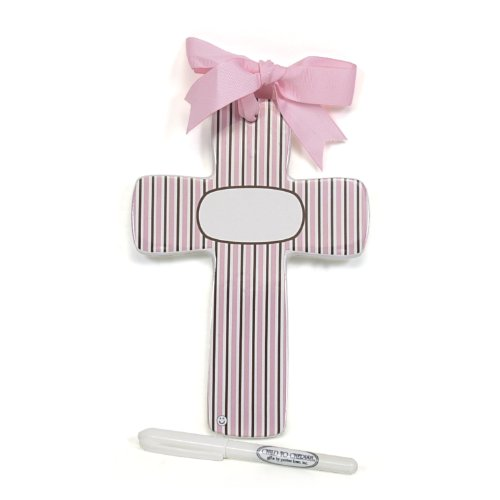 Child to Cherish Bubble Double Stripe Cross, Pink/Brown - 1
