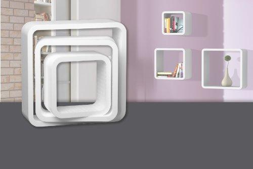 till weiss 3 teilig 30 x 30 cm 40 x 40 cm 50 x 50 cm tiefe 15 cm. Black Bedroom Furniture Sets. Home Design Ideas