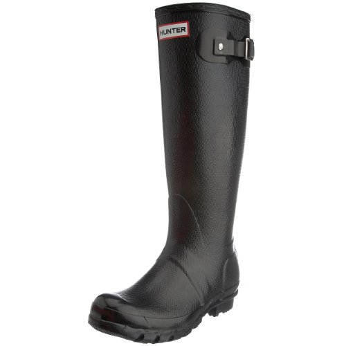 Hunter Women's Carnaby Lizard Wellies In Black