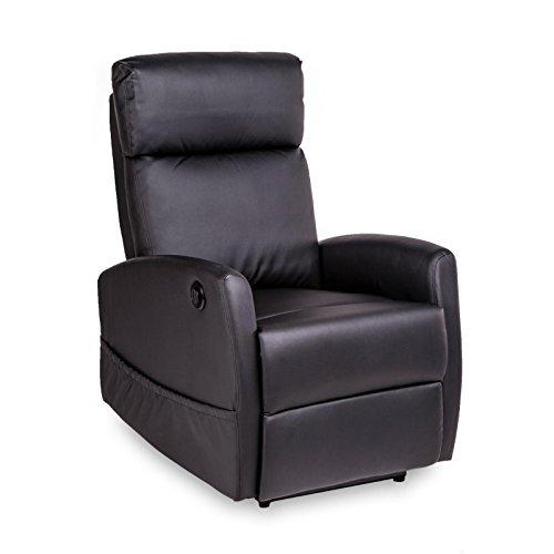 ... TV Sessel Leder Optik elektrisch verstellbar schwarz Wohnzimmer