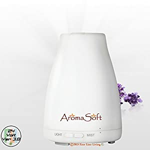 Aromatherapy Essential Oil Diffuser ❥ By AromaSoft ❥ Powerful 24V Ultrasonic Home Oil Diffuser - Yes! ✶ FREE ✶ BONUS ✶ E-BOOK Added! ❤ Best Electronic Technology For Safety And Reliability ★ Easy To Use Spa Vapor Diffuser So You Can Enjoy All The Healthy Benefits Of Natural Aromatherapy Oils ★ Unheard Of BETTER Than Money Back Guarantee!