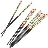 Global Decor 8-Piece Wooden Chopstick Set, Service for 4