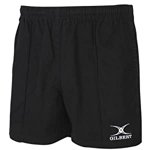 Gilbert Kiwi Pro Rugby Short (White) BLACK