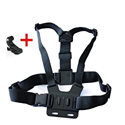 Chest Mount Harness with J Hook with Pouch for Gopro Hero Hero2 Hero3 Hero3+, PC plastic and high quality elastic strap
