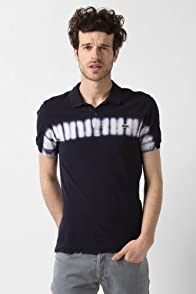 L!VE Short Sleeve Horizontal Tie-Dye Polo