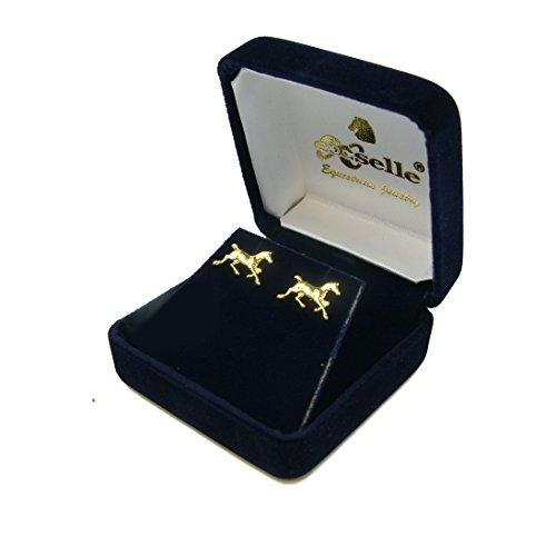 exselle-running-horse-gold-plate-earrings