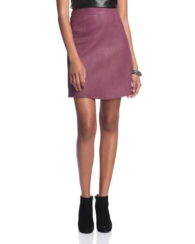 AS by DF Women's Carly A-Line Leather Skirt