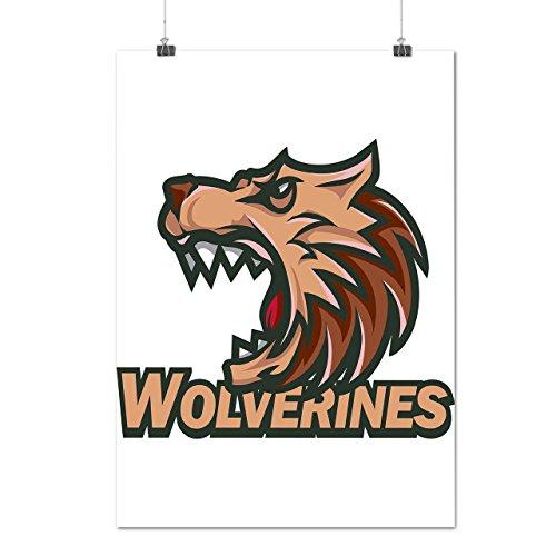 [Wolverine Sport Team Basketball Matte/Glossy Poster A2 (17x24 inches) | Wellcoda] (Aerobics Costume Designs)