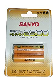 Sanyo 2500 MAH Rechargeable Battery HR-3U-2BP-2500
