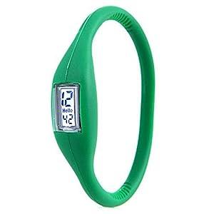 Sports Digital Silicone Rubber Jelly Anion Bracelet Wrist Watch Unisex