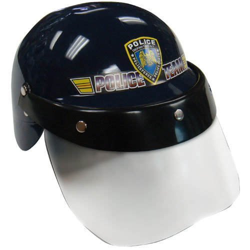 Dress up America Police Helmet with Transparent Visor