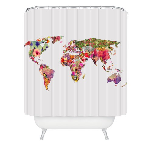 Deny Designs Bianca Green Its Your World Shower Curtain, 69 By 72-Inch back-913399