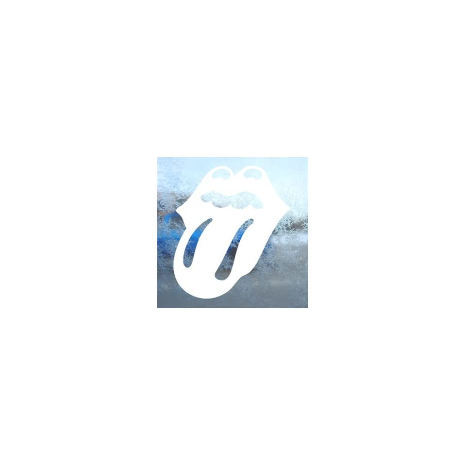 The Rolling Stones White Decal Tongue Rock Band Car White Sticker
