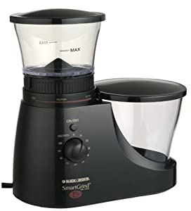 Black & Decker CBM7B SmartGrind Deluxe Coffee Bean Burr Mill - Black