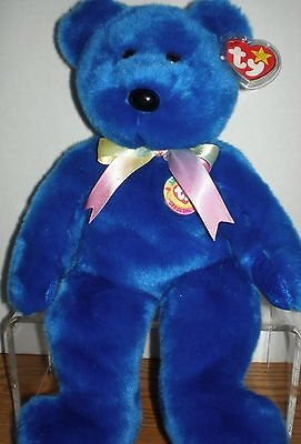 "Ty Beanie Buddies Clubby Bear 14"" Mint Retired 1999 - 1"