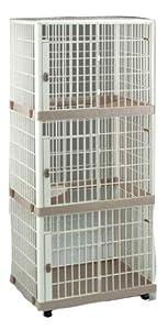 IRIS Plastic Three Tier Pet Cage for Dog or Cat