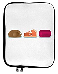 Cute Thanksgiving Food 9 x 11.5 Tablet Sleeve - White Black