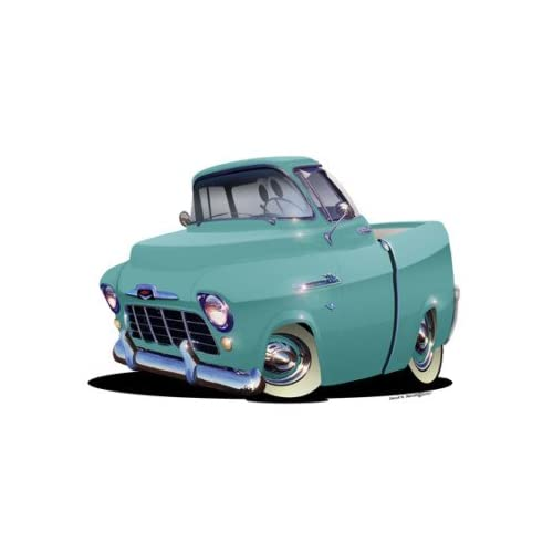 24 DB 1956 Chevy Cameo Antique Truck 4x4 Cartoon Car Wall