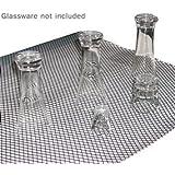 Sani-Dry Bar Glass Shelf Liner - Black: 5 Foot Piece