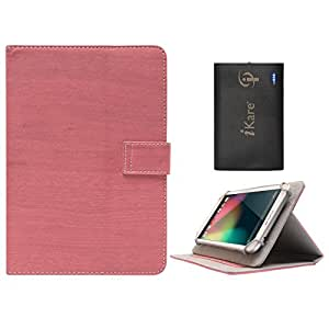 DMG Protective 7in Flip Book Cover Case for Raiikar Ocea2 (Pink) + 6600 mAh Three USB Port Power Bank