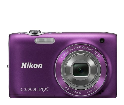 Nikon COOLPIX S3100 14 MP Digital Camera with 5x NIKKOR Wide-Angle Optical Zoom Lens and 2.7-Inch LCD (Purple)