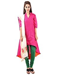 Imple Boutique Women's Banarasi Silk Salwar Suit Set (IBA-38)
