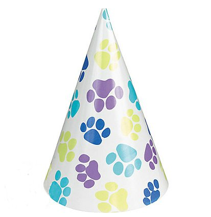 Party Pups Cone Hats, 8ct