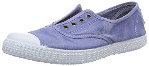 Natural World INGLES PUNTERA TINTADO, Pantofole bambini Blu Blau (LAVANDA) 33