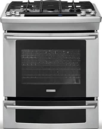 """Electrolux EW30GS75KS Wave-Touch 30"""" Stainless Steel Gas Slide-In Sealed Burner Range - Convection"""