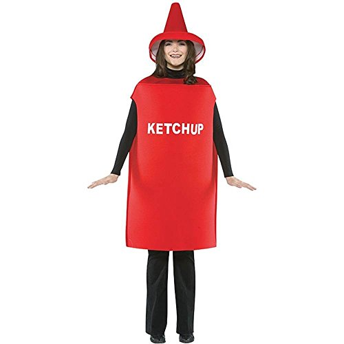 Lightweight Adult Ketchup Costume - One Size