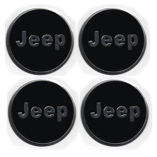 Jeep 4 x 4 sticker per centro ruota,  badge leghe di ruotaa metallica, logo adesivo - set da 4 copricerchi