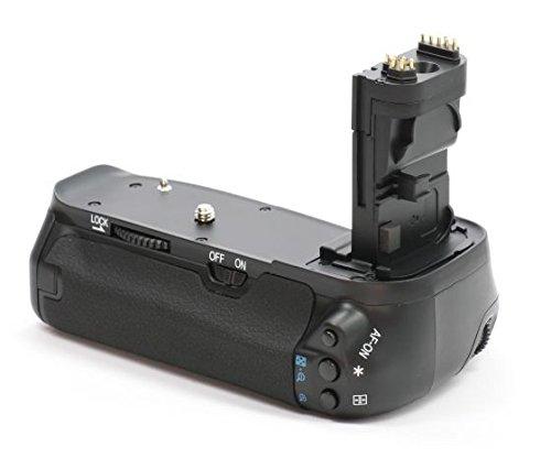 Impulsfoto Batterie grip professionnel pour Canon EOS 60D comme le BG-E9 et LP-E6 6 piles AA