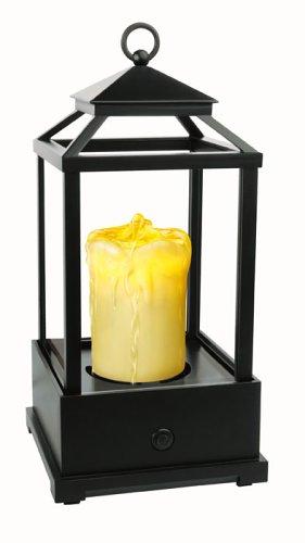 HoMedics WFL-CANRUS EnviraScape Illuminated Rustic Lantern Candle Fountain, Bronze