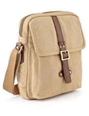 Pure Cotton Canvas Messenger Bag