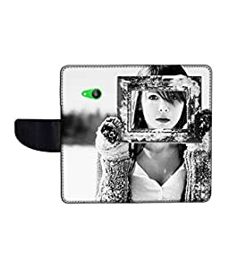 KolorEdge Printed Flip Cover For Microsoft Lumia 535 Multicolor - (50KeMlogo09154Lumia535)