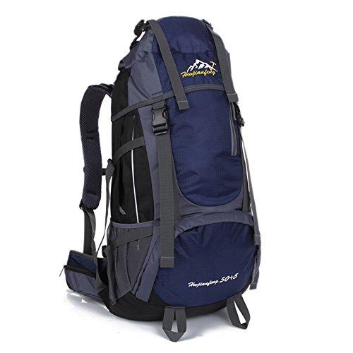 Grande capacité alpinisme sacs / extérieur sac à bandoulière / sac de sport / Voyage à dos-bleu marin 60L