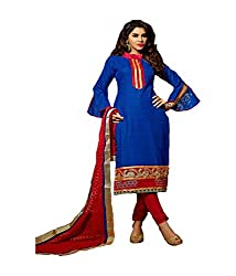 Fashiondiya Antra Cotton Jeqared Top,Cotton Bottom, Net Sifly Dupatta