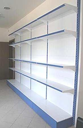 Metal shelf shelves wall 75x30x250 cm modular for shop Office Forniture