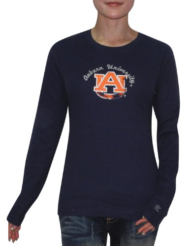 NCAA Auburn Tigers Womens Slim Fit Long Sleeve Shirt (Vintage Look) S Dark Blue at Amazon.com