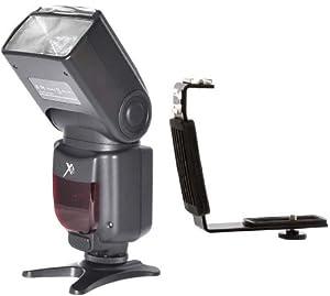 A/F Flash + L Bracket for Canon 60D, T3i, 7D, T4i, T3, T2i (XIT Flash XTDF260C)
