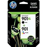 HP 901XL Black /HP 901 Tricolor Ink Cartridge Pack, in Retail Packaging (CC654AN)(CC656AN)(CZ722FN)