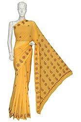 ADA Traditional Chikankari Needlecraft Ethnic Wear Designer Georgette Saree Dress A120103