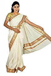 Atex Cotton Saree with Blouse (5193_Ivory)