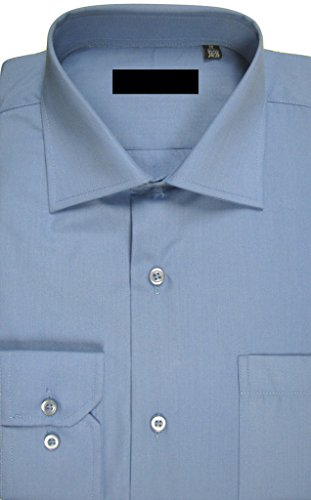 "UNITED SUIT MEN'S FASHION FIT DRESS SHIRT BLUE 18""/36"""