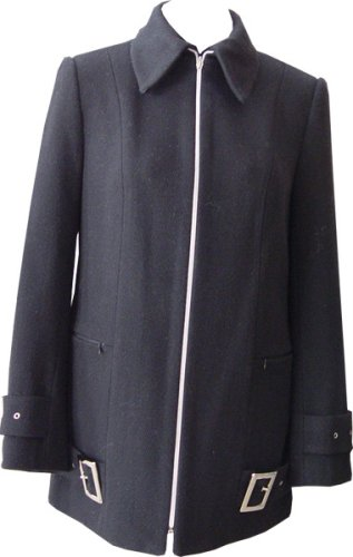Buy Women's Designer Wool Coat – Ladies Front Zip Jacket