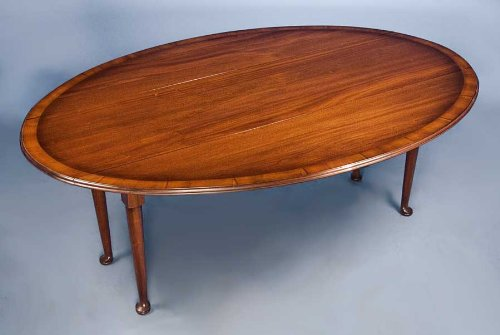 Antique Style Mahogany Drop Leaf Dining Table