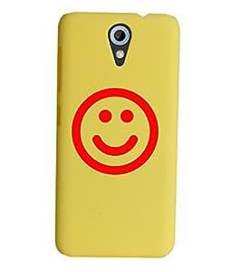 KolorEdge Back Cover For HTC Desire 620 - Yellow (2299-Ke15097HTC620Yellow3D)