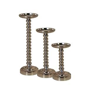 Pomeroy Urban Polished Bubble Candle Holder Pillar - Set of Three