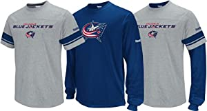 Columbus Blue Jackets Youth Option 3-in-1 T-Shirt Combo Pack by Reebok
