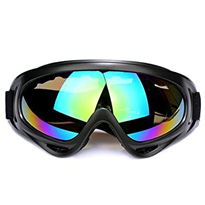 Ski Goggles Snowboard Adjustable UV Protective Motorcycle Goggles Outdoor Tactical Glasses Dust-proof Protective Combat Goggles Military Sunglasses Outdoor Activities Protective Glasses
